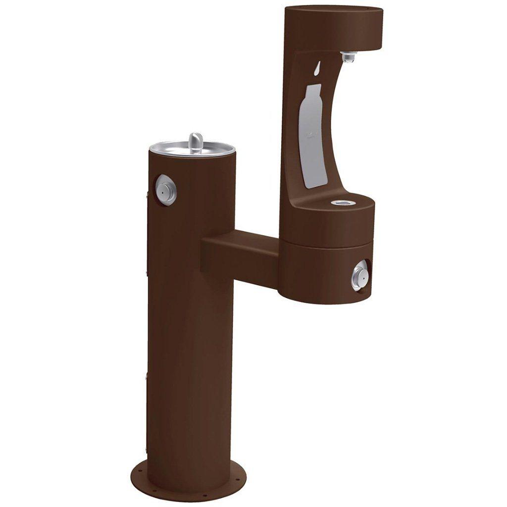 Elkay Outdoor EZH2O Bottle Filling Station Bi-Level Brown