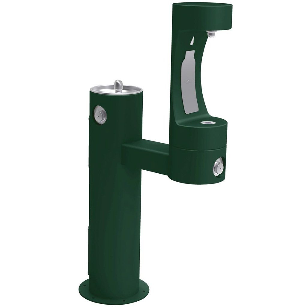 Elkay Outdoor EZH2O Bottle Filling Station Bi-Level Evergreen