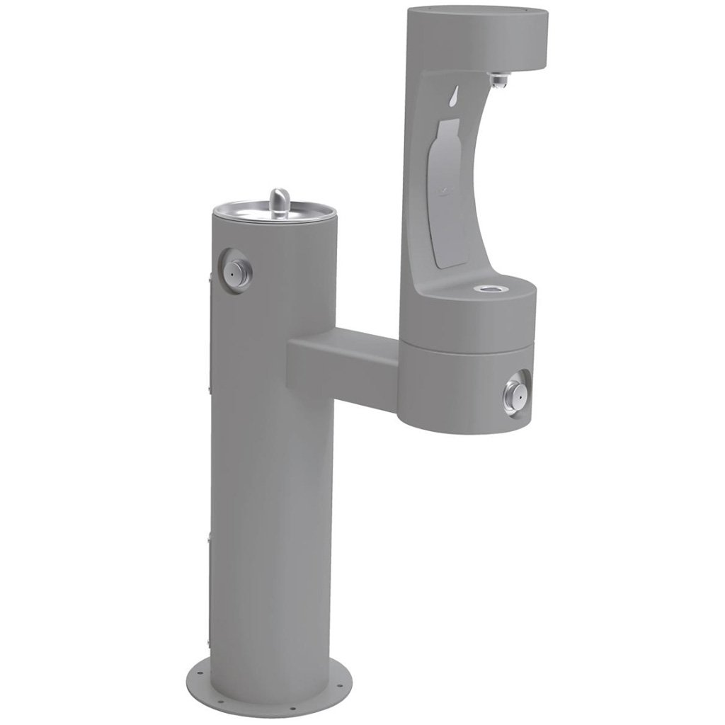 Elkay Outdoor EZH2O Bottle Filling Station Bi-Level Gray