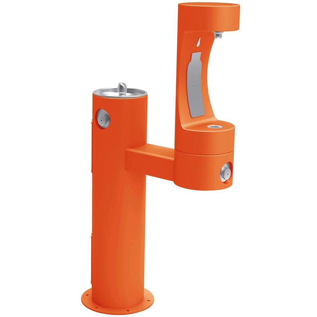 Elkay Outdoor EZH2O Bottle Filling Station Bi-Level Orange