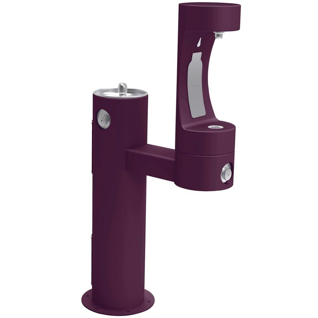 Elkay Outdoor EZH2O Bottle Filling Station Bi-Level Purple
