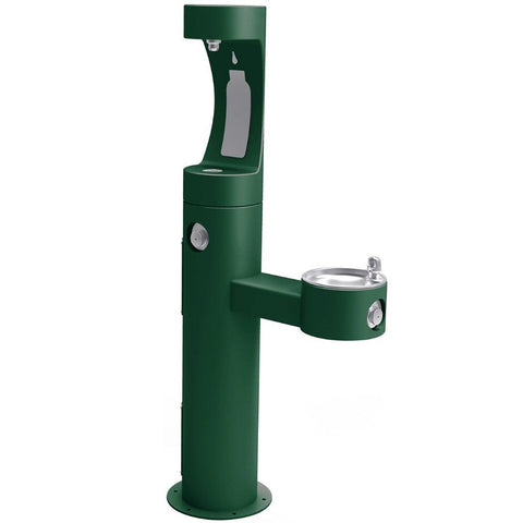 Outdoor Bi-Level EZH2O Bottle Filling Station Elkay Evergreen