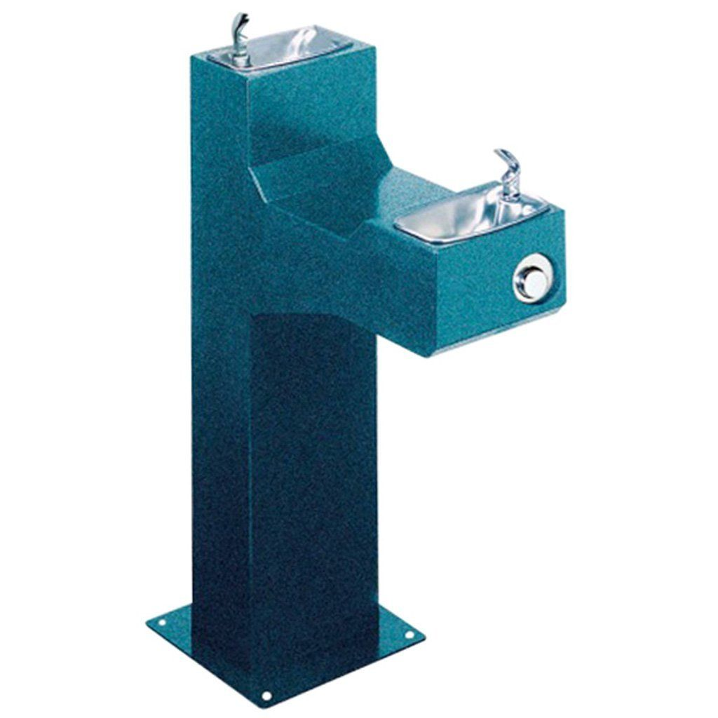 Halsey Taylor Outdoor Drinking Fountain Bi-Level Pedestal