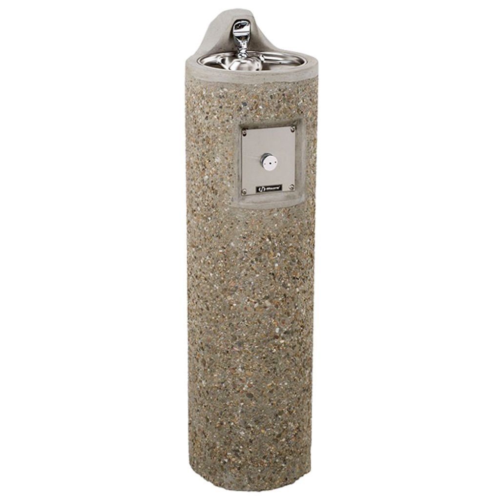 Haws Outdoor Stone Pedestal Drinking Fountain