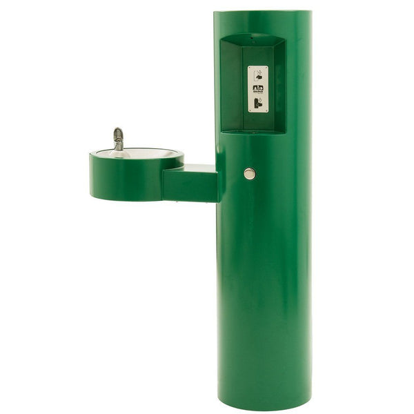 Outdoor Drinking Fountain With Bottle Filler Green Powder