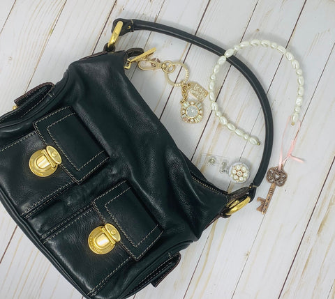 Designer Shoulder Bag Multi Pocket Hobo by Marc Jacobs