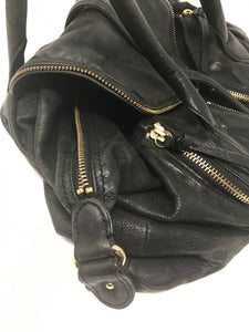 Leather Handbag With Pockets