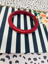Bottega Veneta  Leather Wrapped Bangle Red