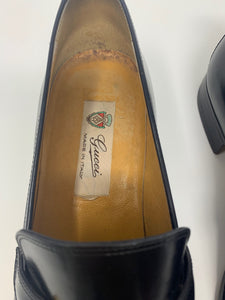 Vintage Gucci Leather Loafers Sz 41