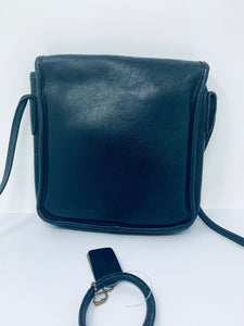 Coach Black Leather Cross Body Bag