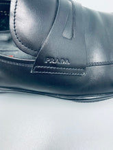 Italian leather men's loafer made by Prada