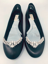 Black Leather Crystal Shoes