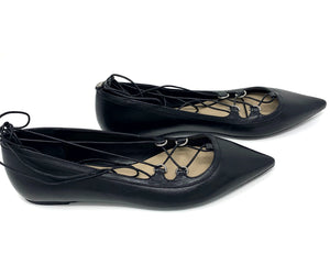 Michael Kors Leather Strappy Pointed Toe Flats Sz 9