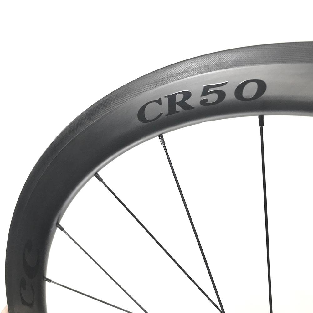 HUP CR50 Black Label 700c Aero Wheelset 50mm Deep