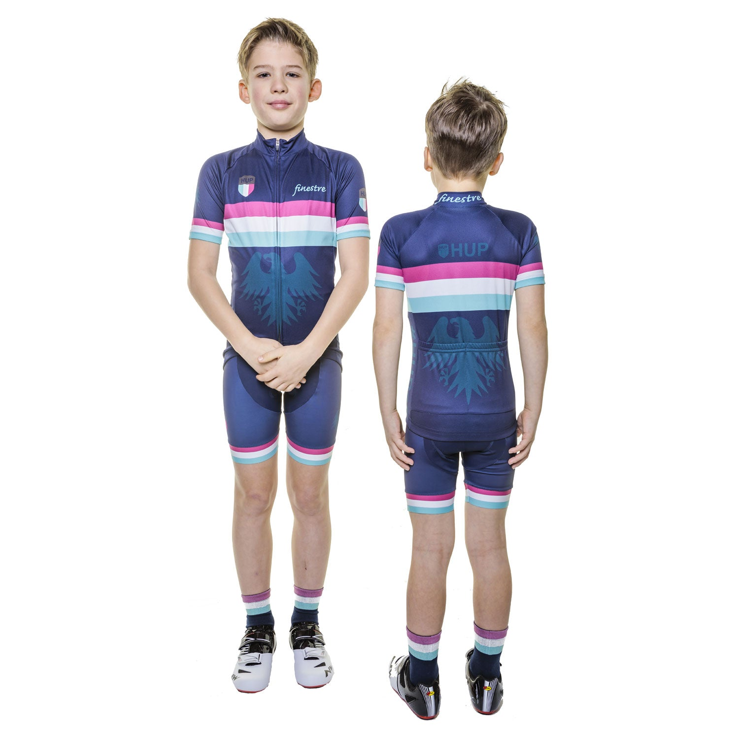 HUP Finestre Kids Short Sleeved Cycling Jersey