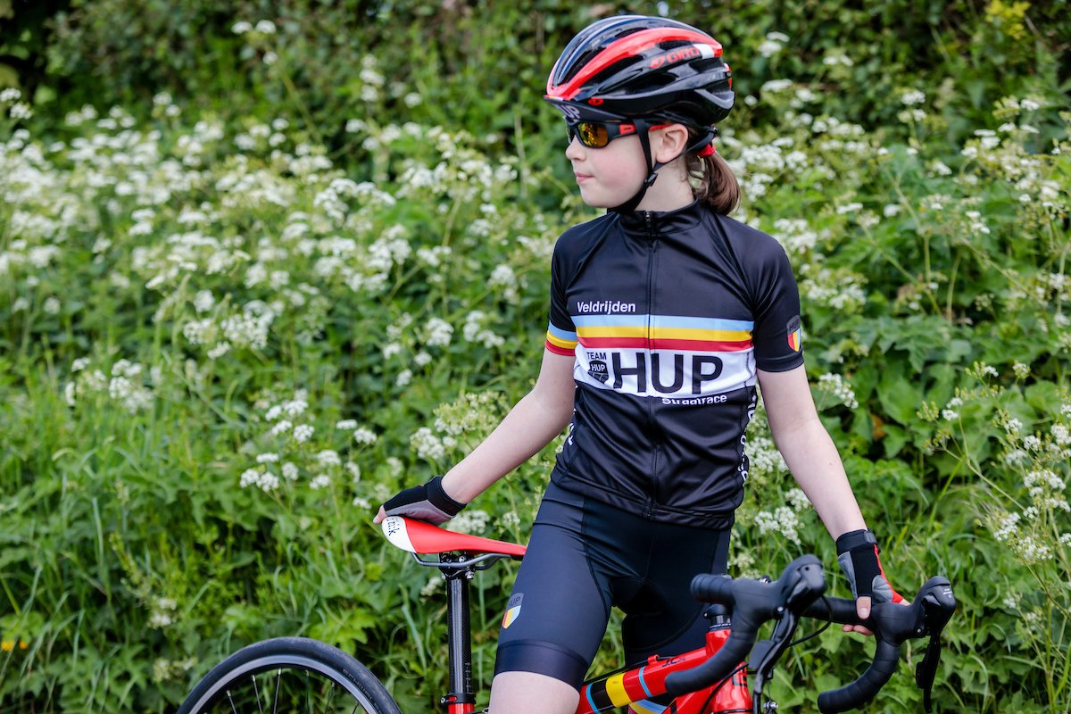 TEAM HUP Kids Short Sleeved Cycling Jersey