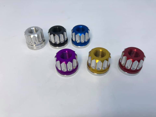 12 point Billet Aluminum BMX Axle Nuts