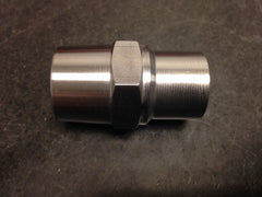 Hex style LH tube adapter