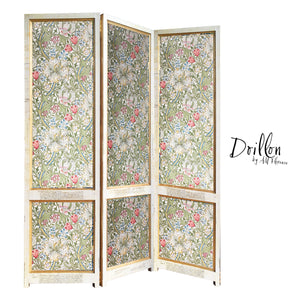 DOILLON GLGR MORRIS vintage folding screen room divider made of wood decorative partition by amflorence