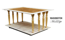 WASHINGTON Shabby Chic Gold Coffee Table, coffee table furniture elegant country shabby chic table living room, AM Florence, AMFlorence