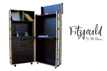 FITZGERALD office desk cabinet steamer trunk storage vintage style furniture by amflorence