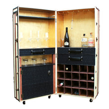FRANK liquor wine cabinet steamer trunk cocktail bar storage vintage style furniture by amflorence