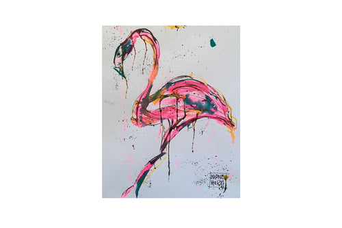 Flamingo... - Steve McCracken, print picture gilded home decor art, AMFlorence, AMFlorence