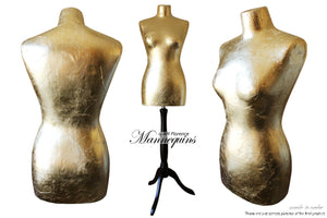 MARILYN Quirky Gilded Display Mannequin Art Bust: Marilyn WH, quirky display mannequin art bust statue home decor contemporary, AM Florence, AMFlorence