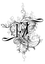 RESERVED TO MINA - A4 Bespoke Victorian Monogram Artwork on Gold