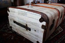 KEITH (small) Upcycled Vintage Steamer Trunk Coffee table, steamer trunk vintage, AM Florence, AMFlorence
