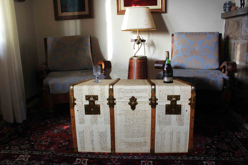 KEITH Upcycled Vintage Steamer Trunk Coffee table, steamer trunk vintage, AM Florence, AMFlorence