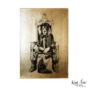 KING JIMI A4 neo victorian art victoriana imagery gold gilded artwork retro surreal home decor portraits by amflorence