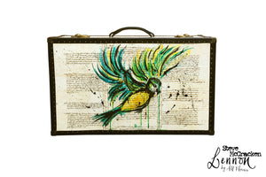 LENNON Steve McCracken (limited) Vintage Style Suitcase #01, luggage suitcase hard-sided storage, AM Florence, AMFlorence