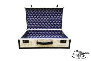 LENNON Steve McCracken (limited) Vintage Style Suitcase #02, luggage suitcase hard-sided storage, AM Florence, AMFlorence