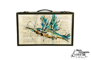 LENNON Steve McCracken (limited) Vintage Style Suitcase #04, luggage suitcase hard-sided storage, AM Florence, AMFlorence