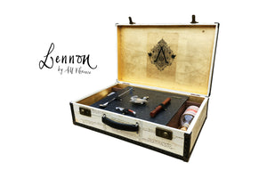 LENNON Vintage Style Portable Bar Suitcase Hard Sided Luggage, luggage suitcase hard-sided storage, AM Florence, AMFlorence