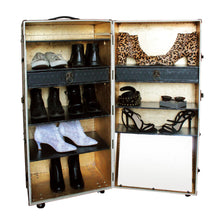 MONROE vintage old-fashioned wardrobe steamer trunk cabinet shoe rack storage furniture by amflorence