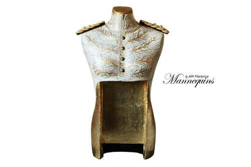 PRESLEY Mannequin Art luxury Victorian Style Bust, bust mannequin art statue home decor contemporary, AM Florence, AMFlorence