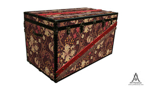 MORRIS Wallpaper Coffee Table Steamer Trunk: Morris GLFB, Furniture Steamer Trunk Coffee Table Storage Chest, AM Florence, AMFlorence