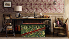 MORRIS Wallpaper Coffee Table Steamer Trunk: Morris GLIN, Furniture Steamer Trunk Coffee Table Storage Chest, AM Florence, AMFlorence