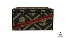 MORRIS Wallpaper Coffee Table Steamer Trunk: Morris GRANADA, Furniture Steamer Trunk Coffee Table Storage Chest, AM Florence, AMFlorence