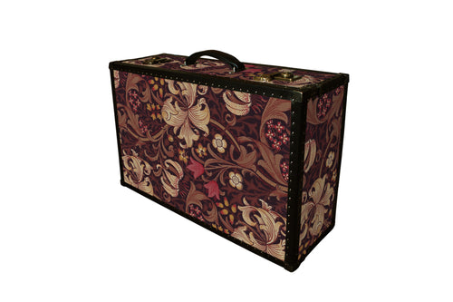 LENNON Morris Wallpaper Vintage Style Suitcase: Lennon GLF, luggage suitcase hard-sided storage, AM Florence, AMFlorence