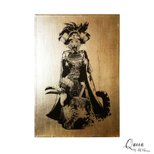 QUEEN A4 neo victorian art victoriana imagery gold gilded artwork retro surreal home decor portraits by amflorence