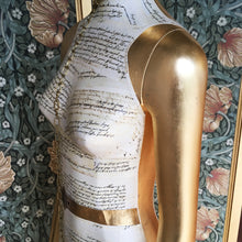 SHIRLEY mannequin art gold leaf 007 goldfinger tribute to shirley eaton home decor statue handmade in london by amflorence