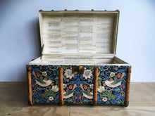 William Morris Strawberry Thief Steamer Trunk Coffee Table Upcycled Vintage furniture made in London by amflorence