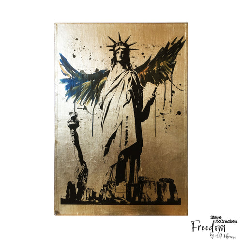 freedom A4 neo victorian art victoriana imagery gold gilded artwork retro surreal home decor portraits stevemccrackenart nonehere by amflorence