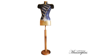 KATE Mannequin Art Bust w Collectables Epaulettes, bust mannequin art statue home decor contemporary, AM Florence, AMFlorence