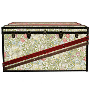 SINATRA MORRIS Wallpaper Coffee Table Steamer Trunk: Morris GLGR