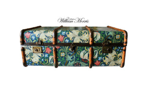 MORRIS Golden Lily Wallpaper Upcycled Vintage Steamer Trunk Coffee table, steamer trunk vintage, AM Florence, AMFlorence