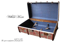 MORRIS Indian Wallpaper Upcycled Vintage Steamer Trunk Coffee table, steamer trunk vintage, AM Florence, AMFlorence